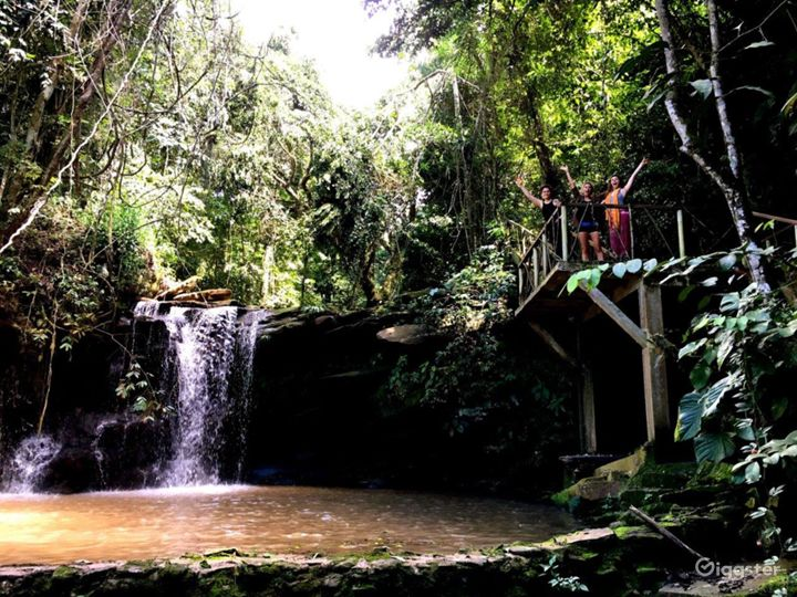 A place of beauty and magic in TierraMitica, El Ojo, our natural swimming pool and waterfall, an amazing place to enjoy the beautiful blue morpho butterflies flying around and to cool off in the jungle.