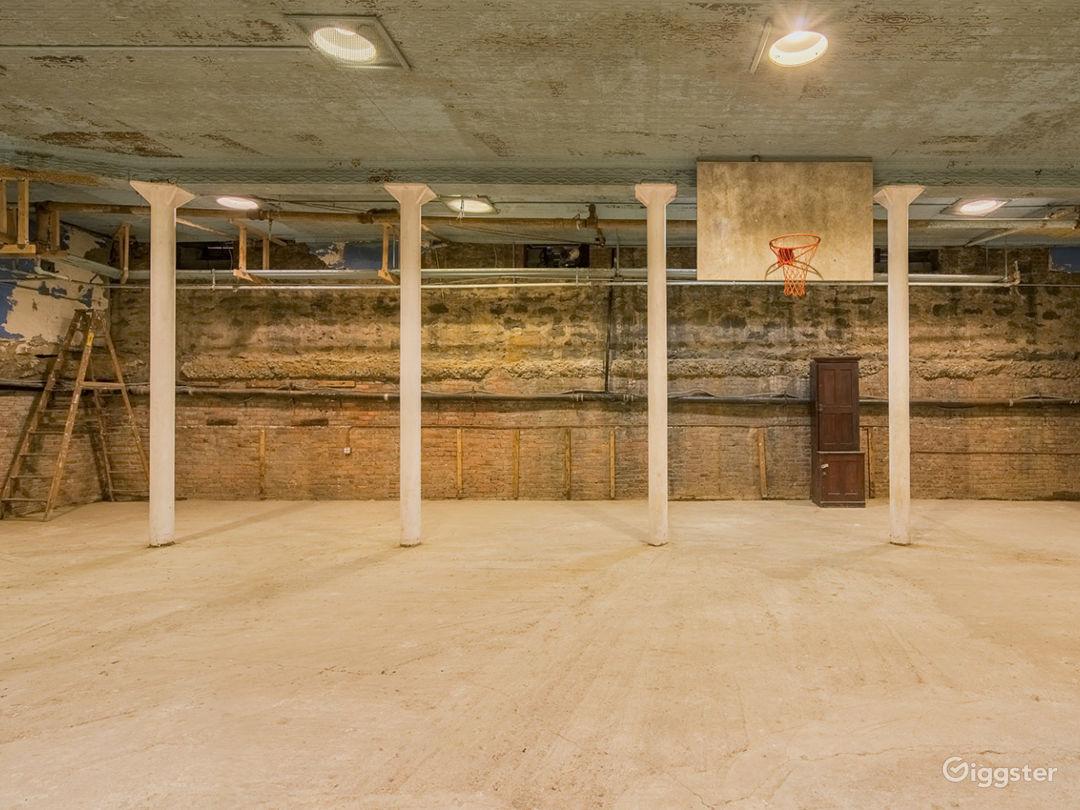 Raw Historic Underground Gymnasium Photo 1