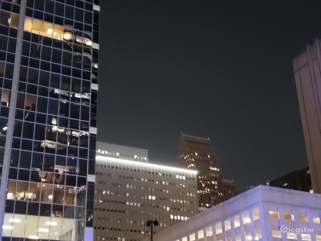 Great Roof top night views of downtown Houston