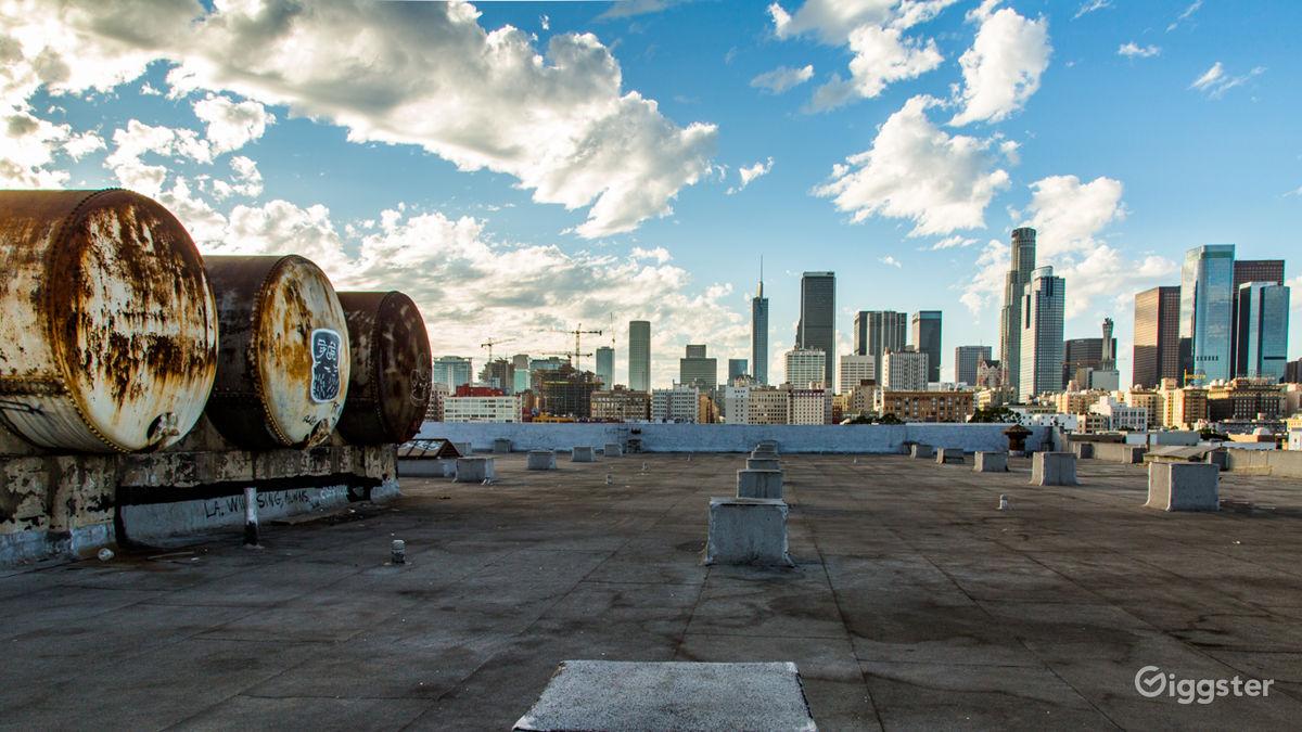 Rooftop Skyline View Studio Los Angeles Rental