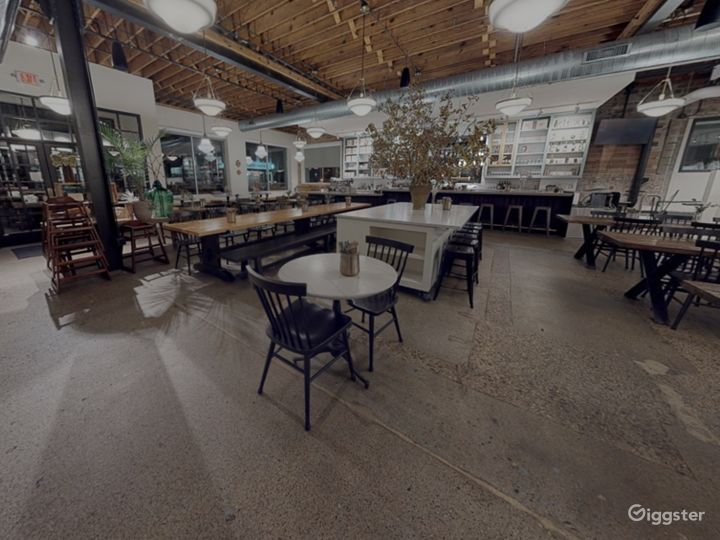 A Large and Modern Dining Space with Wooden Furniture Accent Photo 5