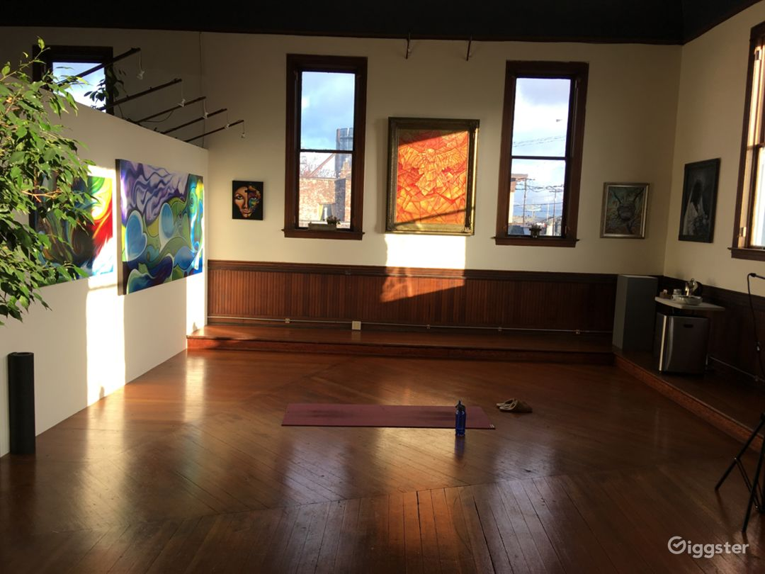 Community Hall with morning light