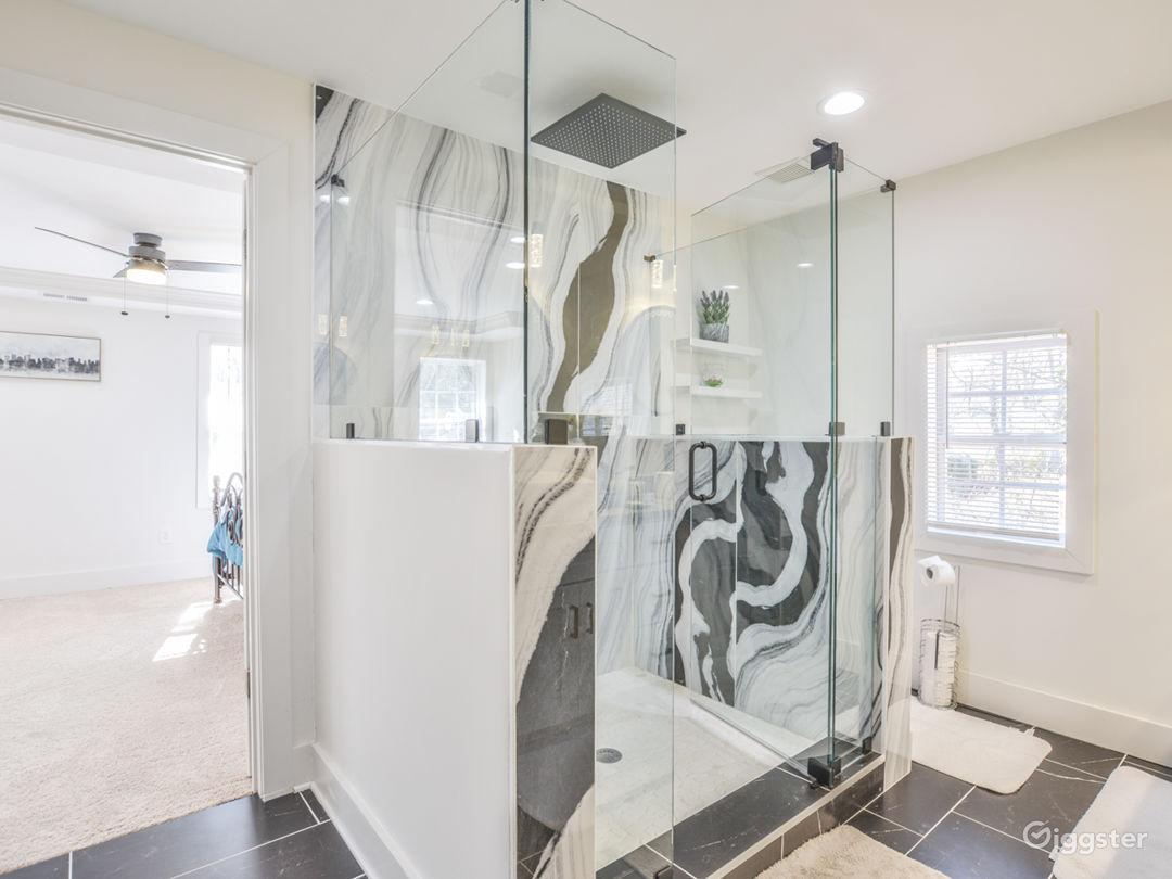 Inviting Spa Shower in Master Bedroom