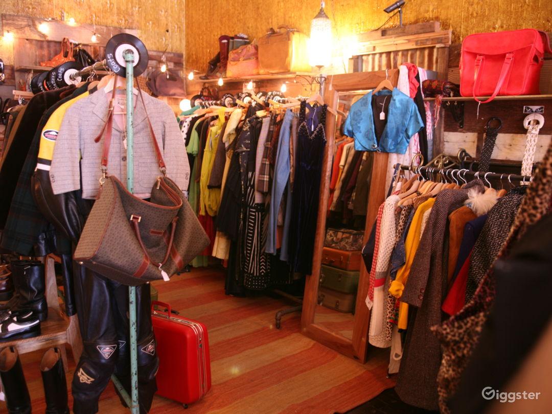 Clothing corner of store