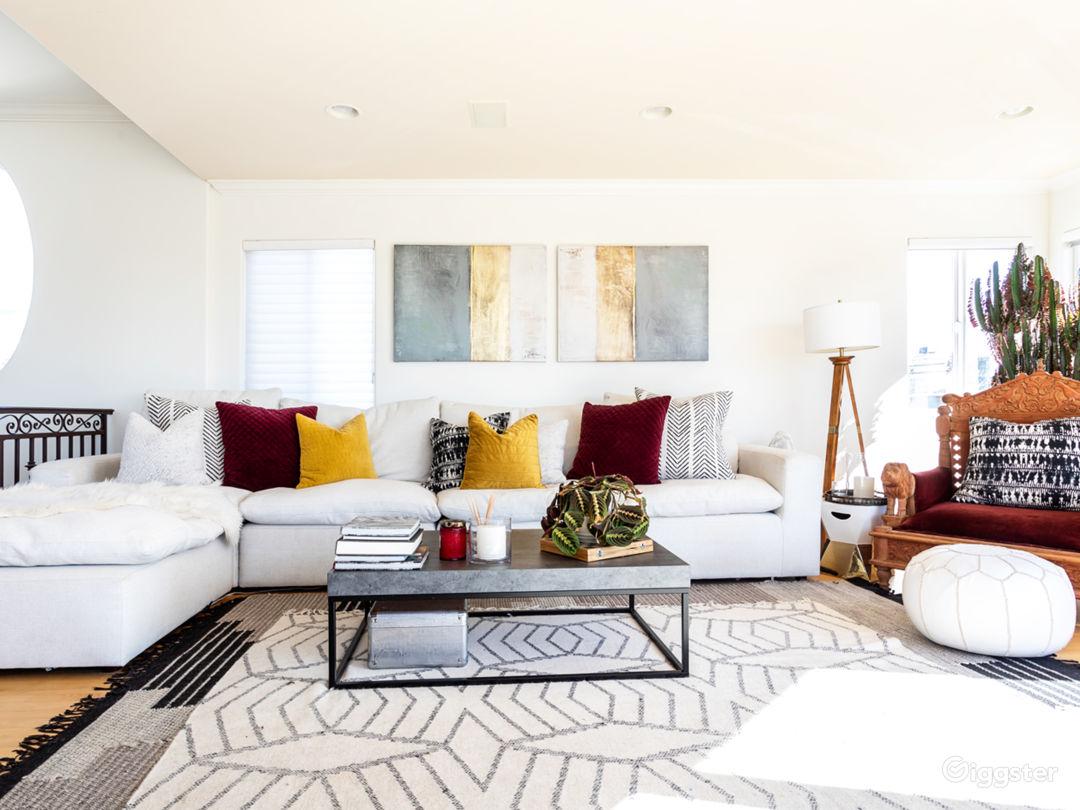 Living Room -all open floor plan with ocean view