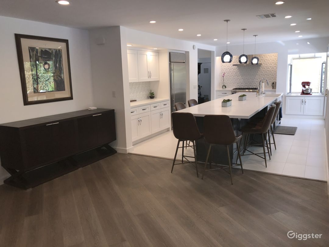 Newly remodeled and custom kitchen
