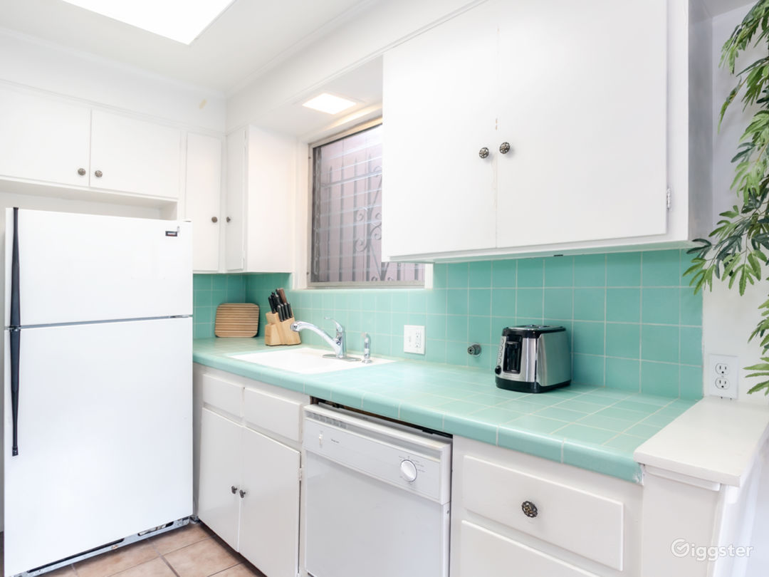 Original cabinets and tile with retro vibe