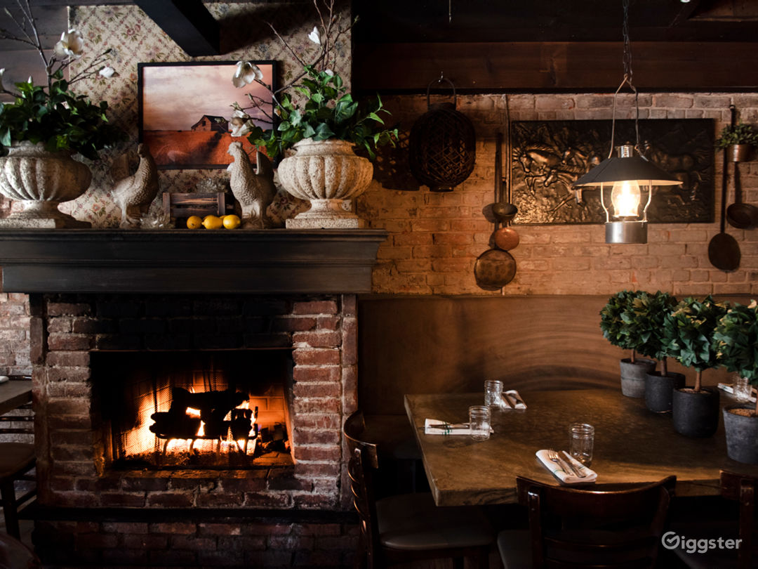 Main Dinning Room with Fire Place