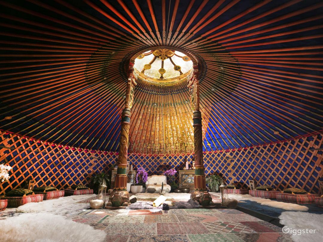 Mongolia Hand Carved Yurt - Top Of Topanga   Photo 1