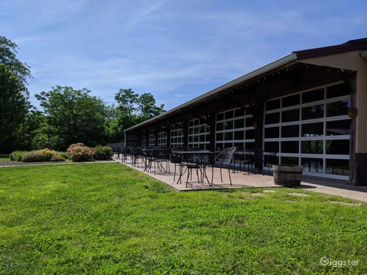 Patio of Tasting Room and Private Room
