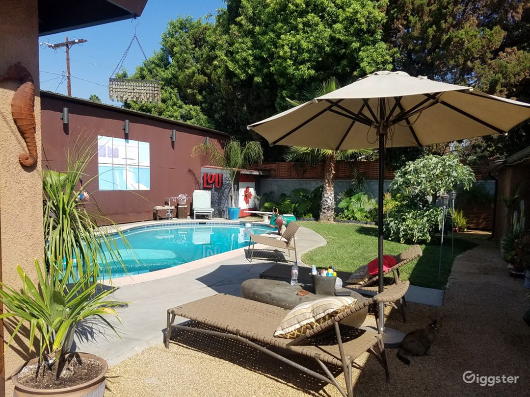 Eclectic LA Pool House with Hangar Available Photo 4