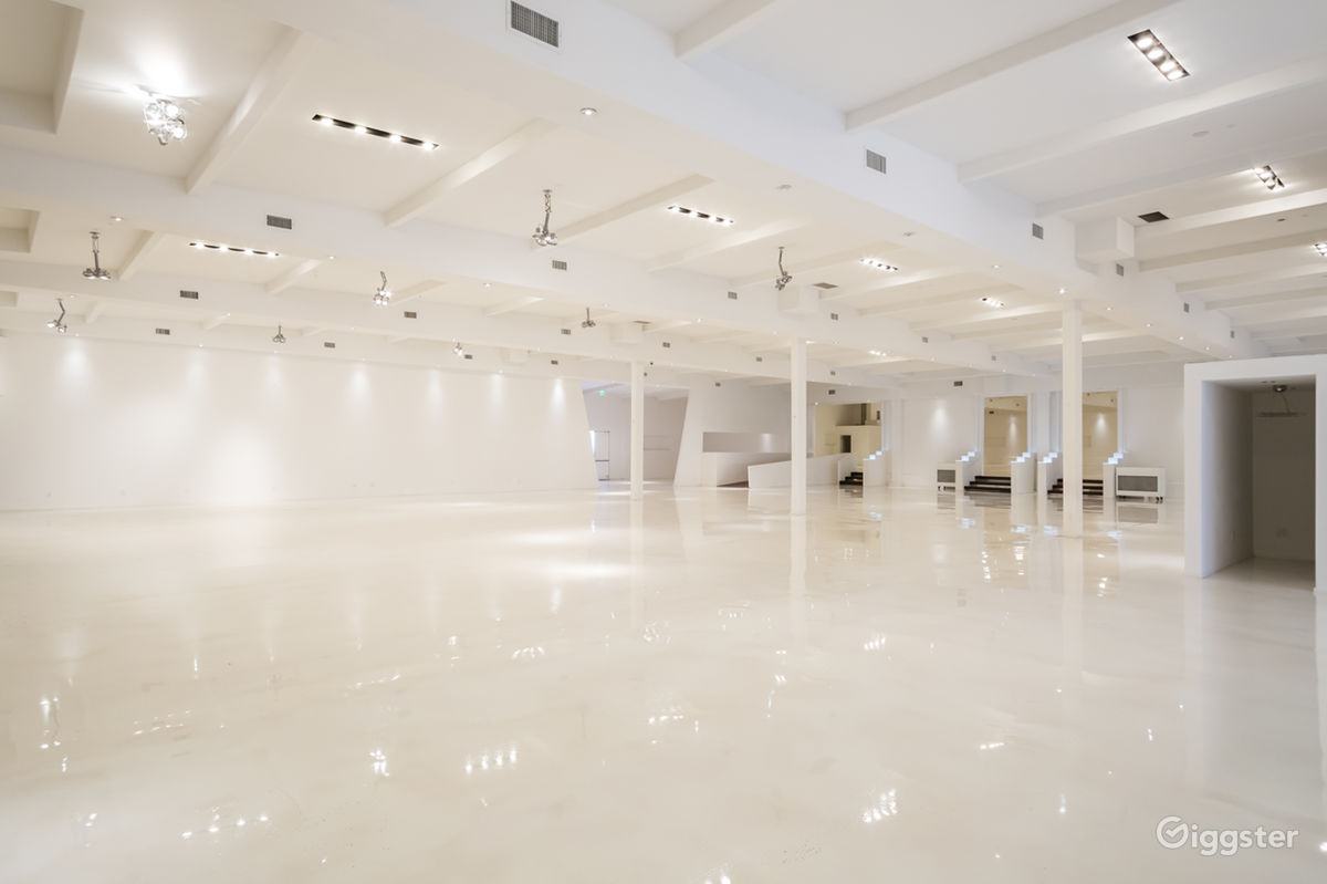 Futuristic Mega White Warehouse near Sun Valley Los Angeles Rental