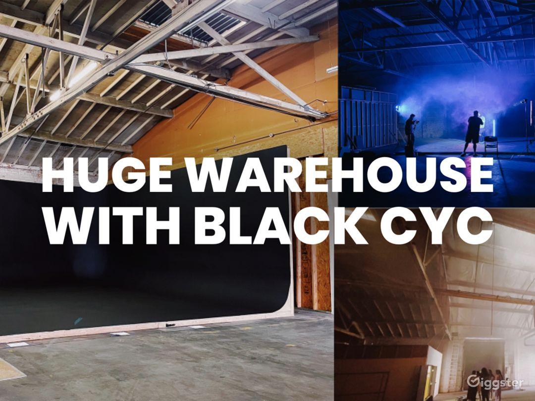 HUGE warehouse with black cyclorama wall Photo 1