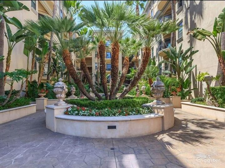 Mediterranean Inspired Courtyard and Pool Photo 2