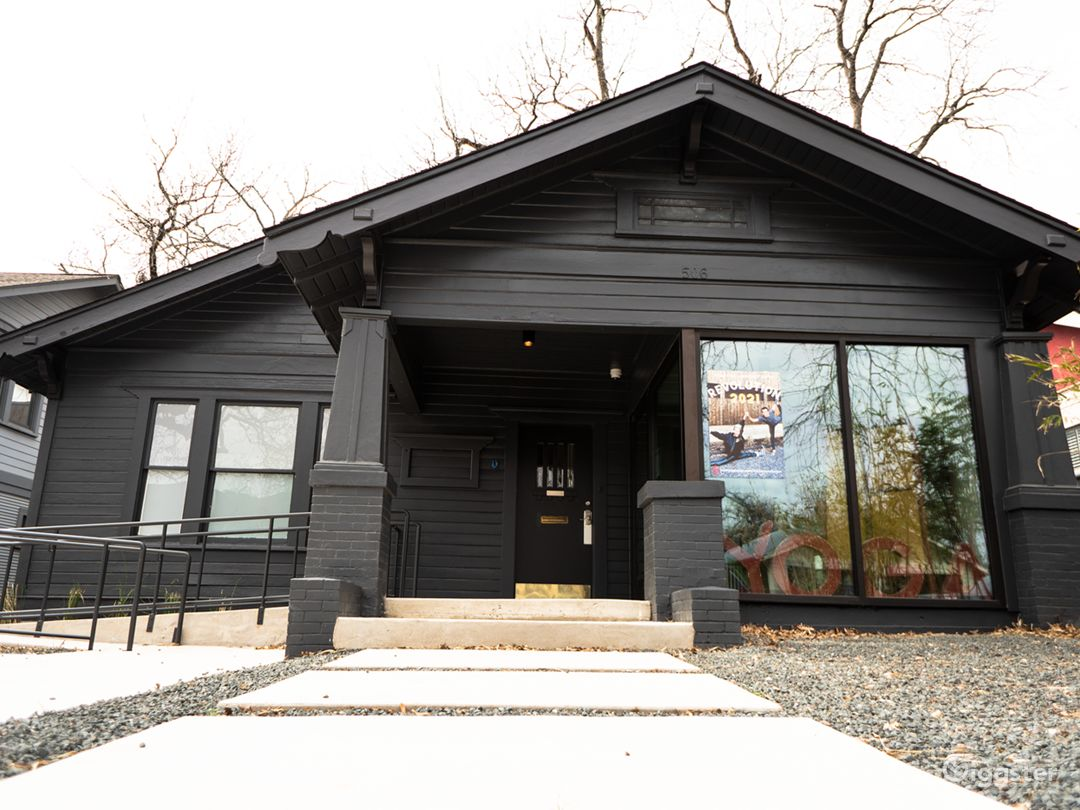 Front entrance of the fully renovated craftsman home