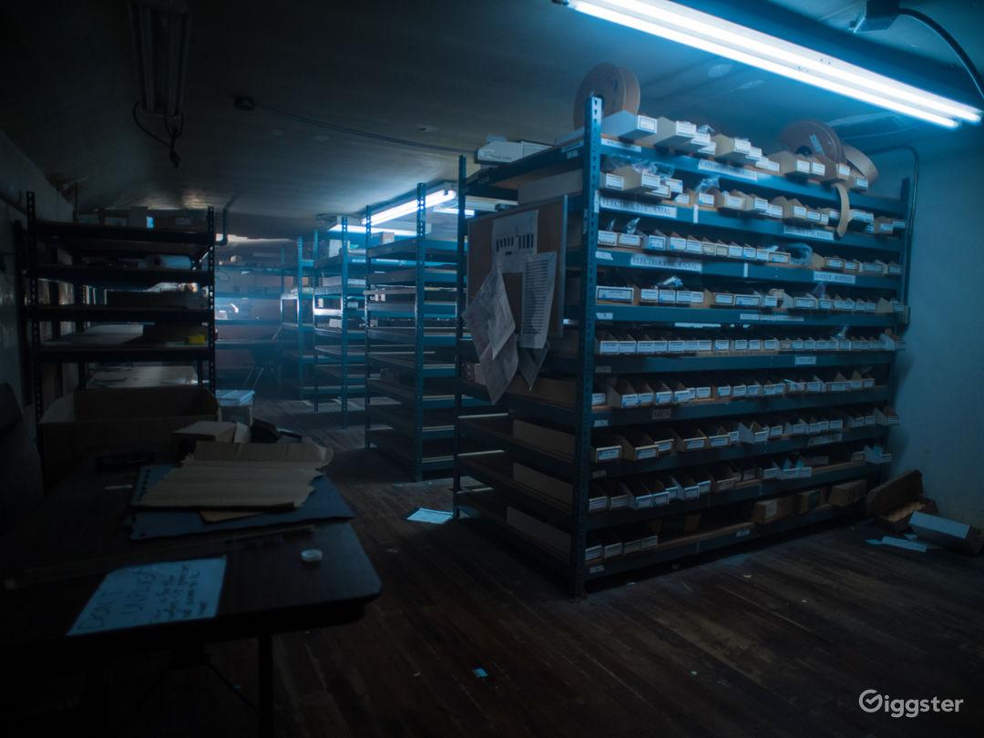 Abandoned Grungy Warehouse Stockroom Photo 1