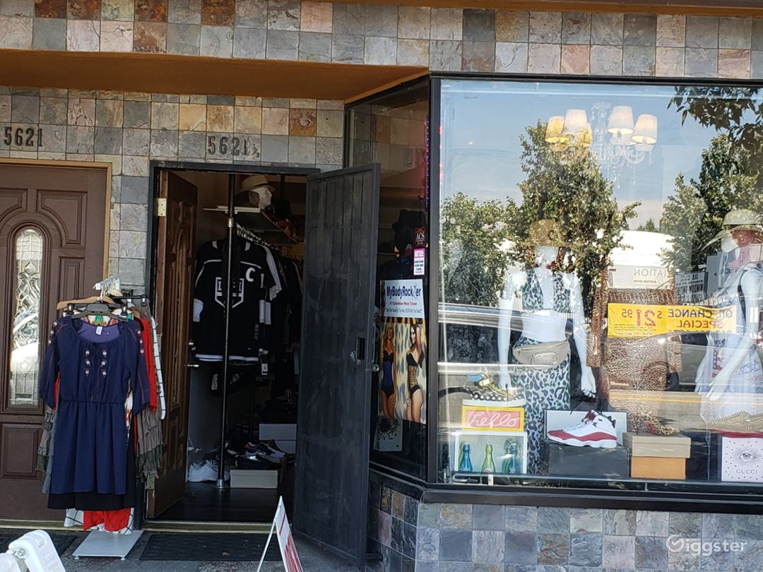 Front of store window