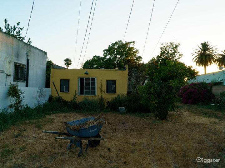 West Adams Yellow Casita Huge Backyard Photo 5
