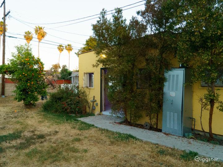 West Adams Yellow Casita Huge Backyard Photo 4