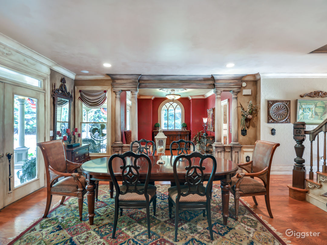 Custom French Provincial Home with Rich Wood Detai Photo 1