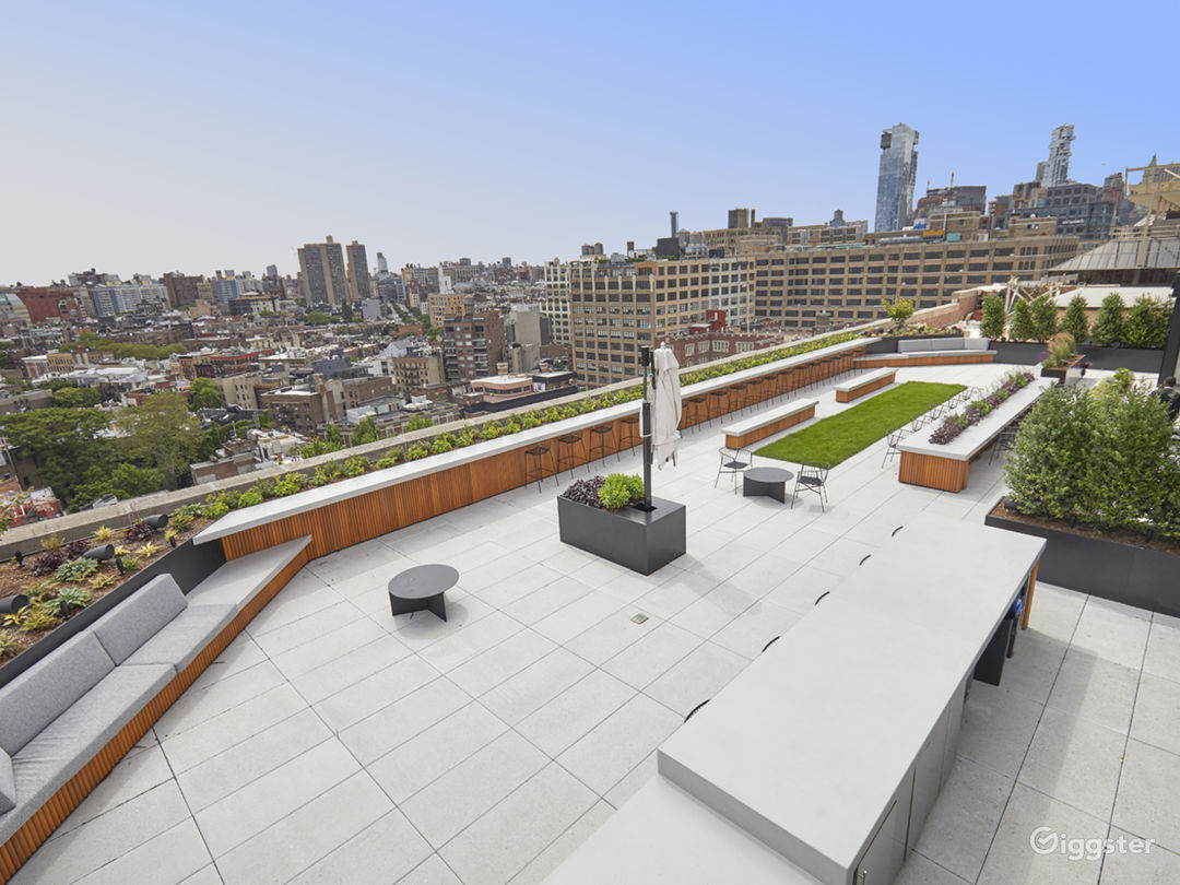 Modern Rooftop Space with Views Photo 1