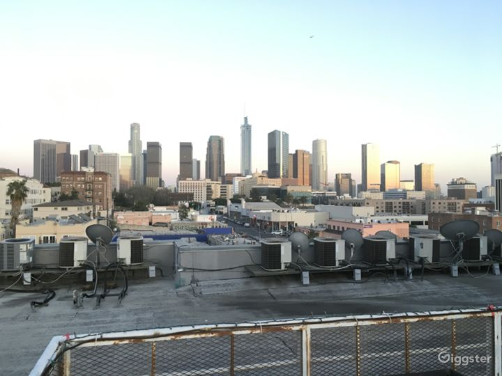 Rooftop deck with Downtown LA / Hwood Hills views  Photo 5