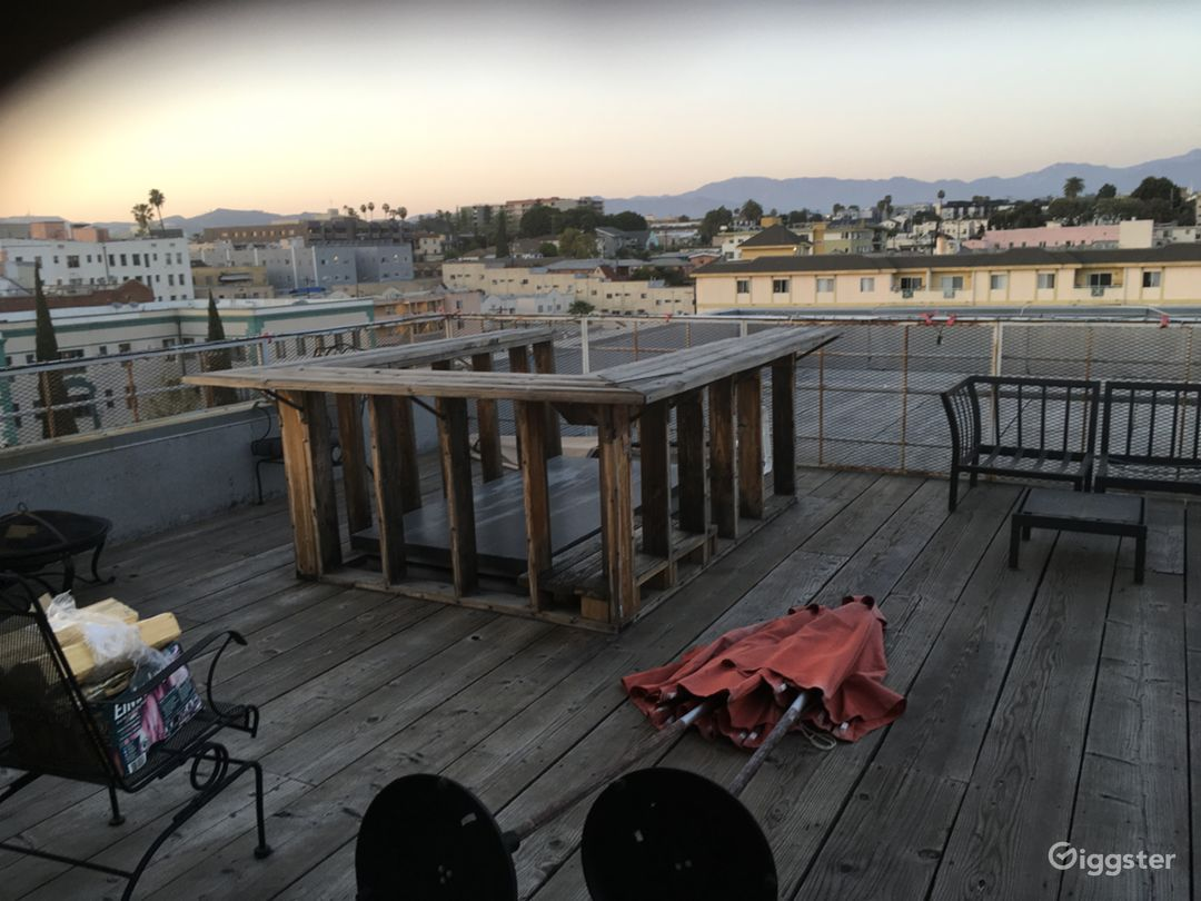 Rooftop deck with Downtown LA / Hwood Hills views  Photo 1