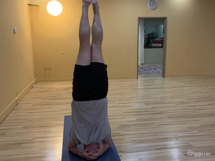 Ed doing a headstand