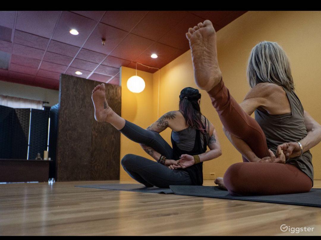 Yoga studio main floor