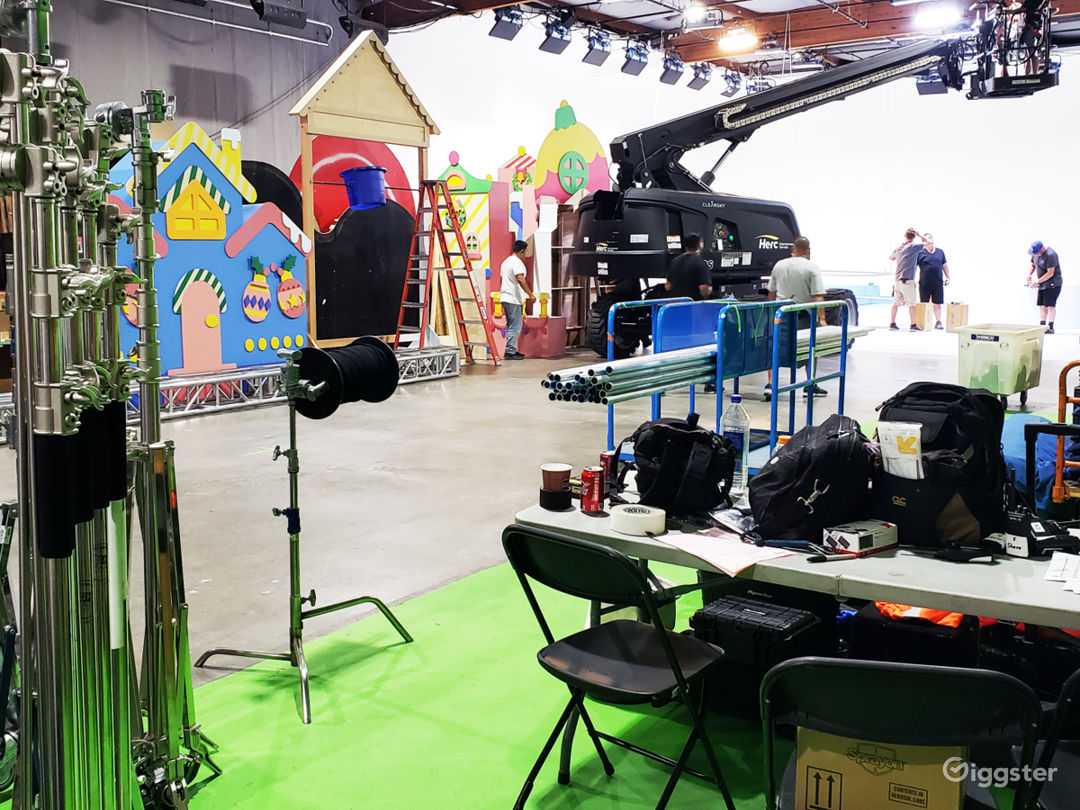 Perfect Commercial Studio For Sets And Support Areas For Talent and Client