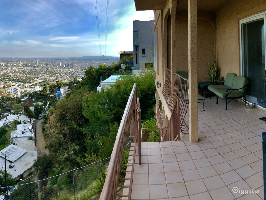 One of several back patios looking out towards DTLA