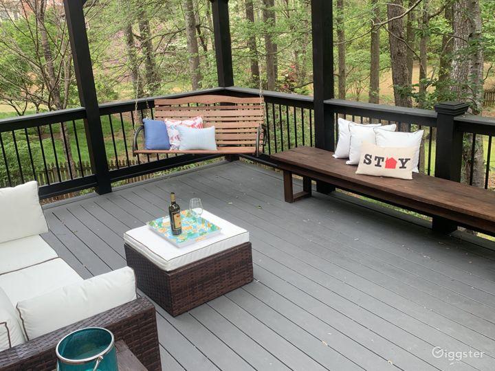 Huge renovated deck