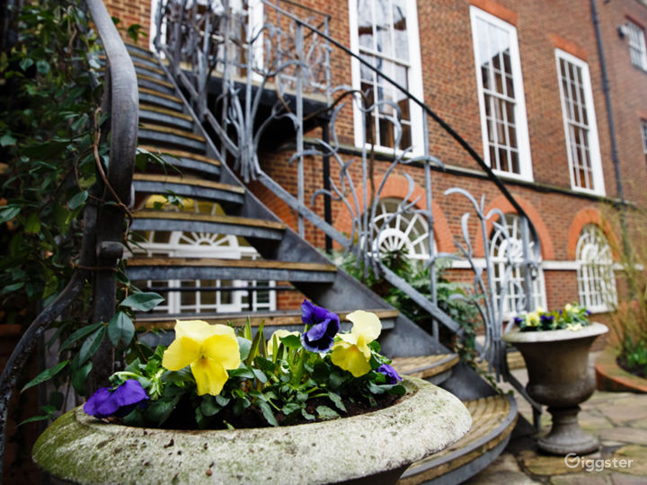 Wrought Iron Staircase at Stationers Hall Garden