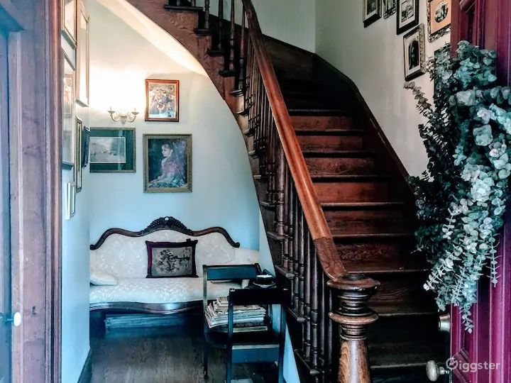 The front foyer with staircase