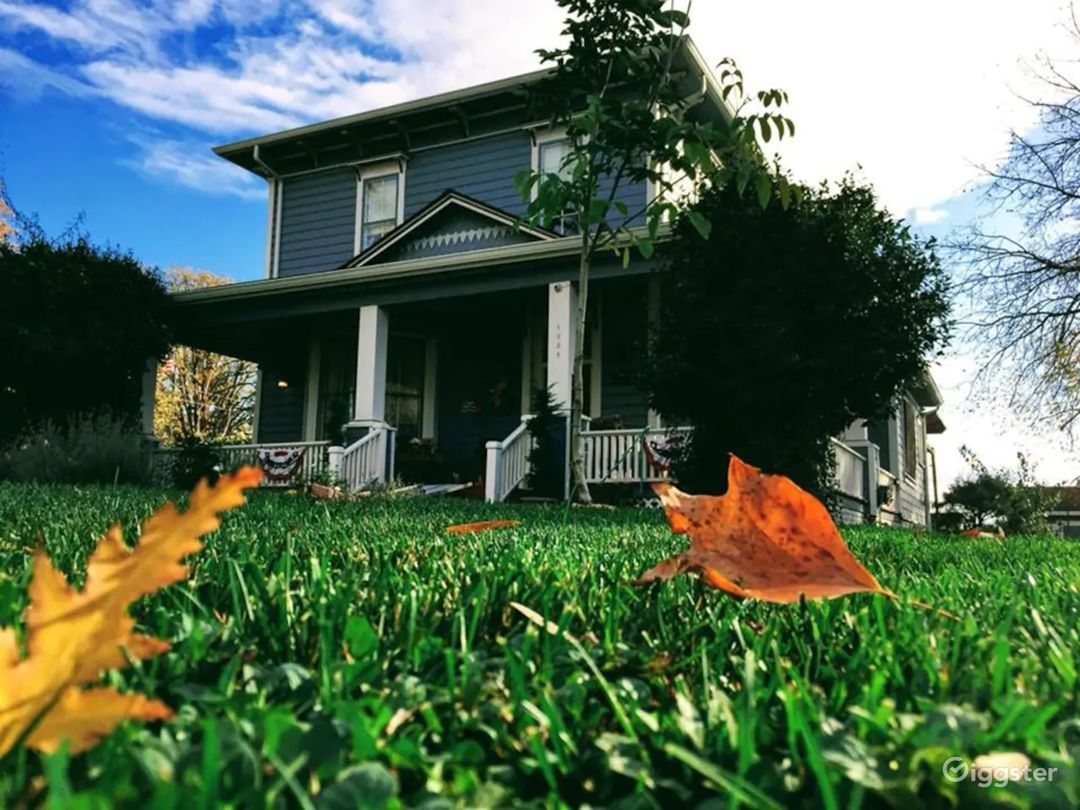 The Smith House in the autumn
