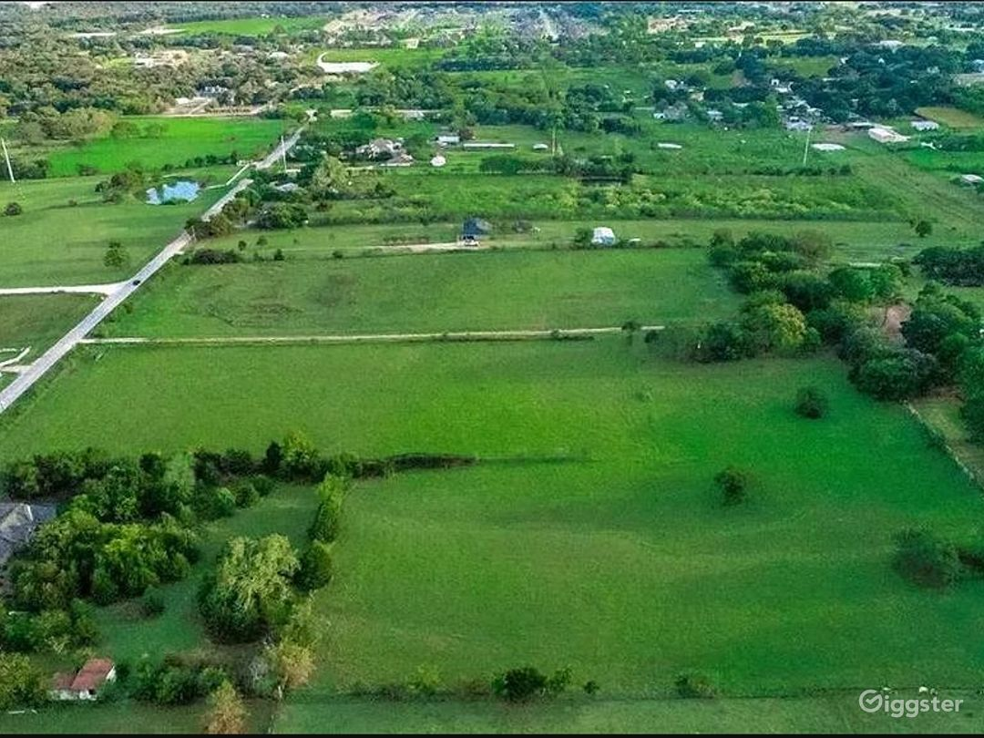 Overview shot of the property with the secluded section in the lower left center of the property.