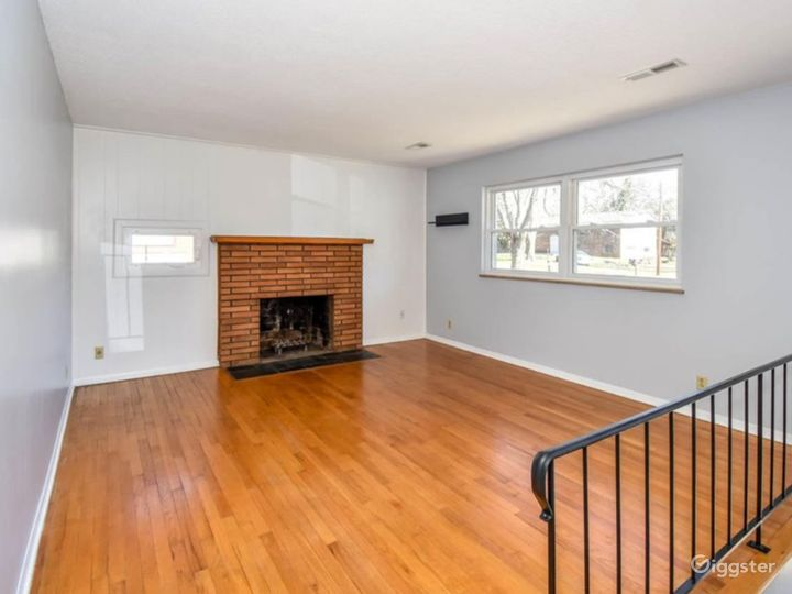 Hard wood floors throughout - living room