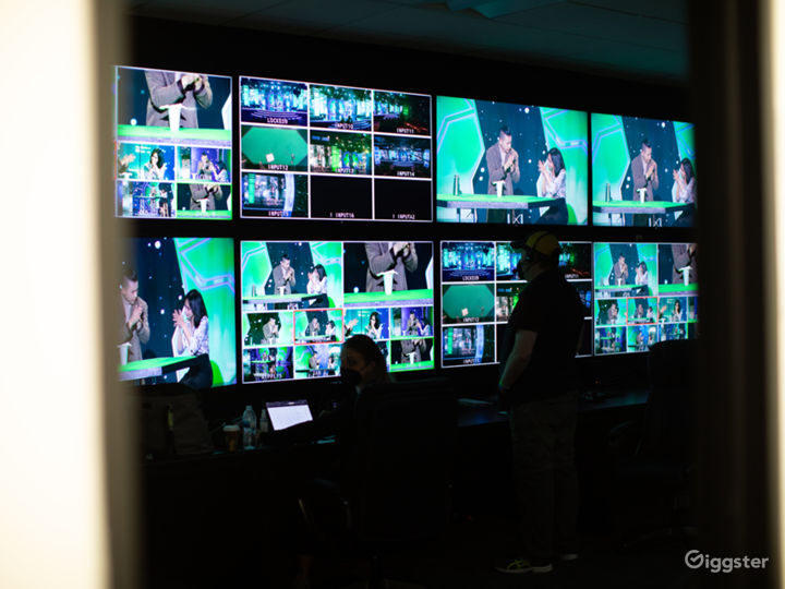 Control room wired to each sound stage. Inquire for availability