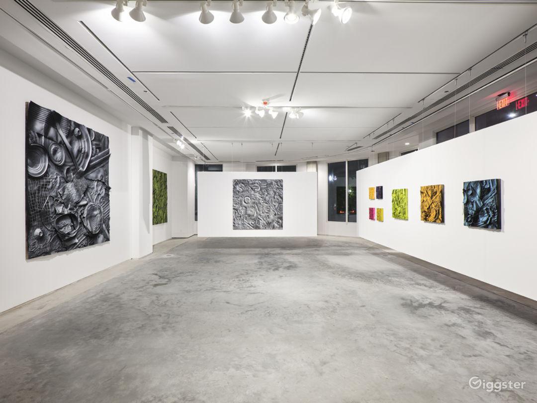 Contemporary gallery space