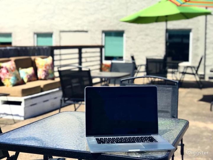 Vibrant Patio Outside the Workspace Photo 4