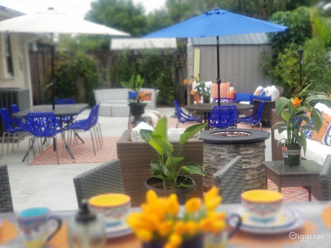 Stylish designer inviting outdoor space  Photo 1