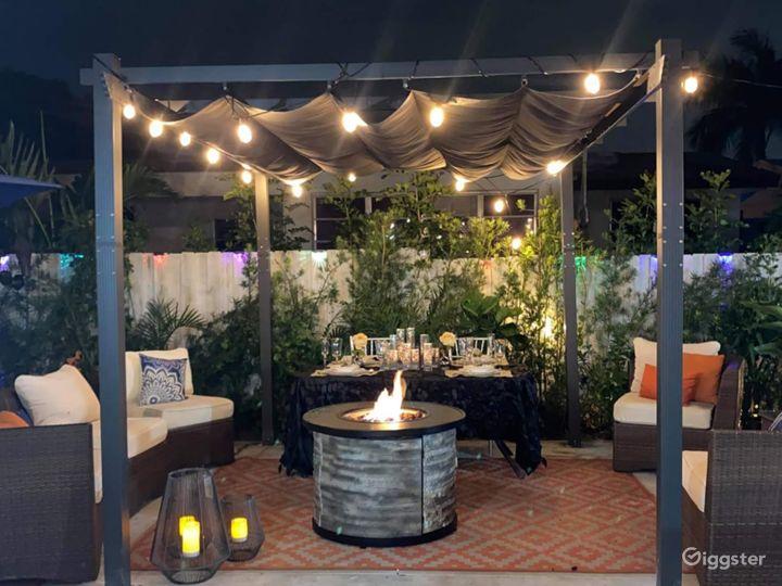 Stylish designer inviting outdoor space  Photo 3
