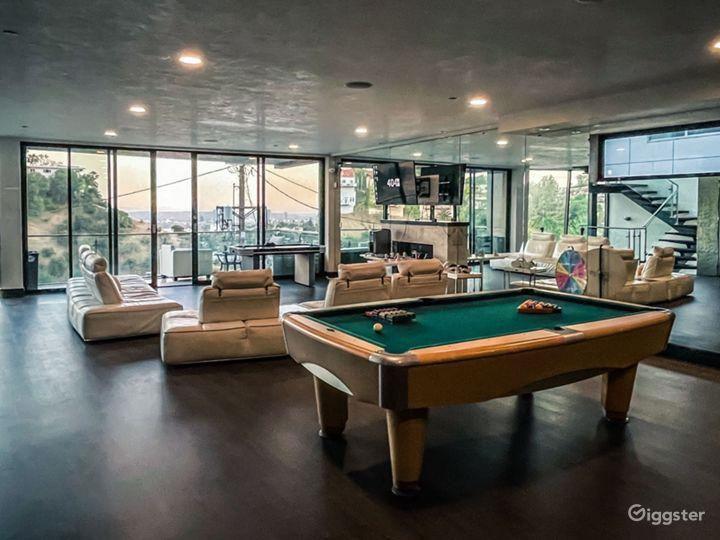 3rd Floor games room, VR, Green screens, Pool, Basketball and Air hockey.