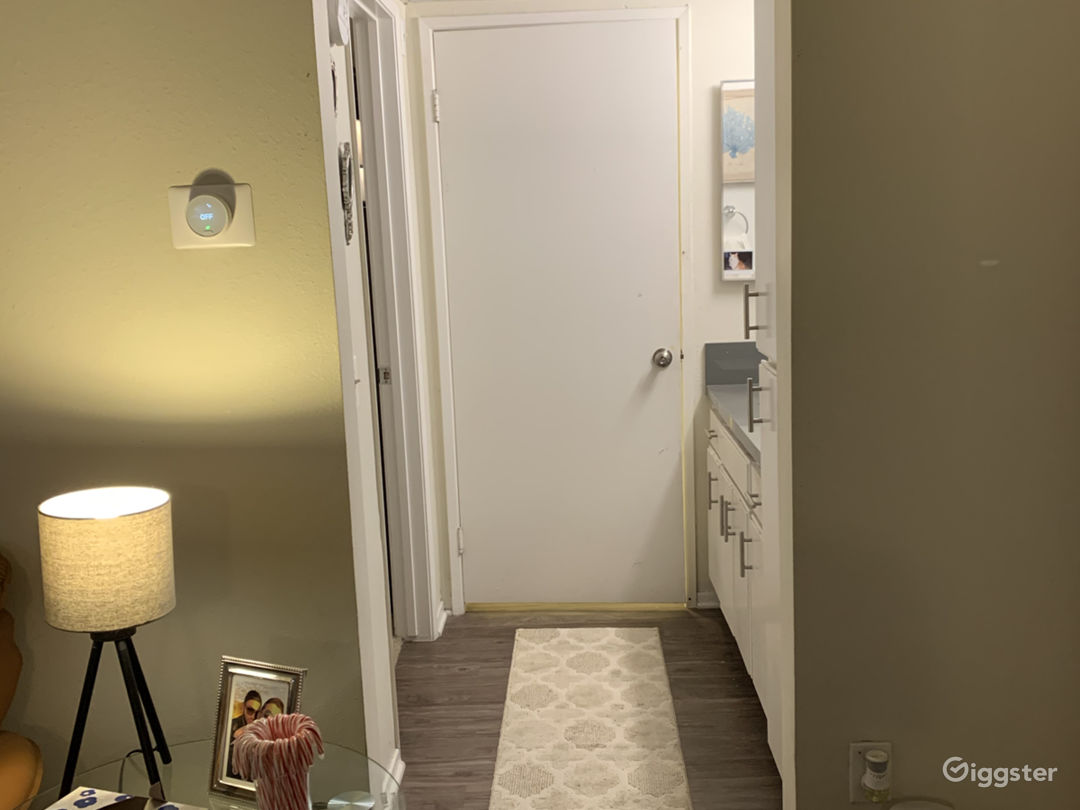 Hall with bathroom.