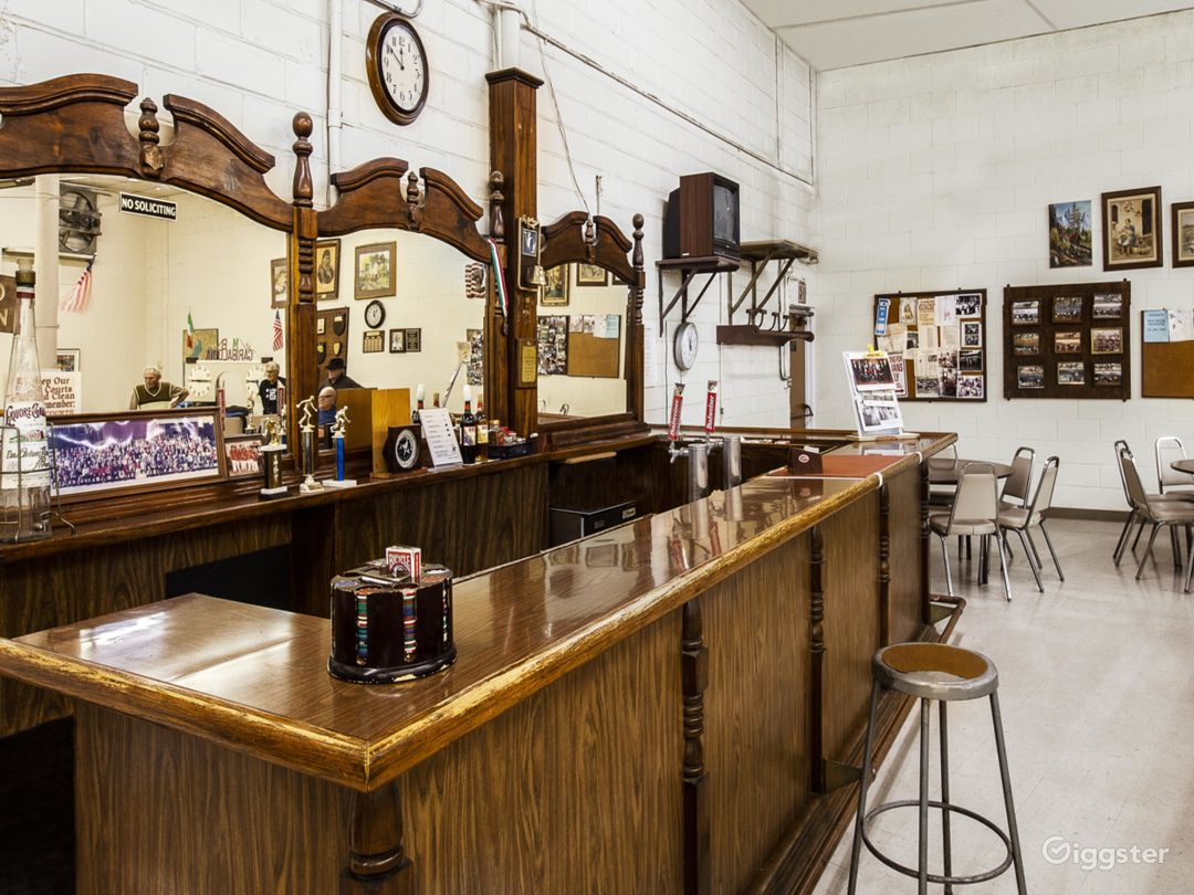 The bar in our bocce courts- one of two bars at the club.