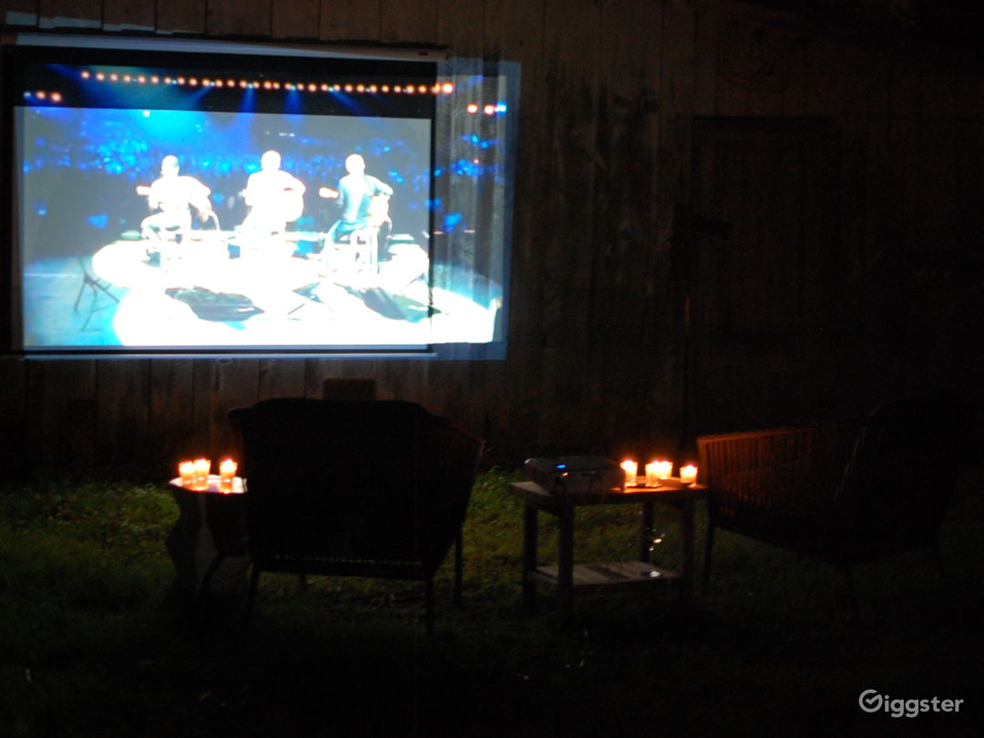 Watch movies under the stars (projector available for rent for additional fee)