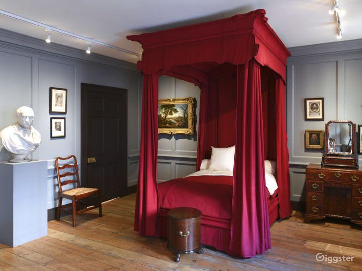 Handel's bedroom.