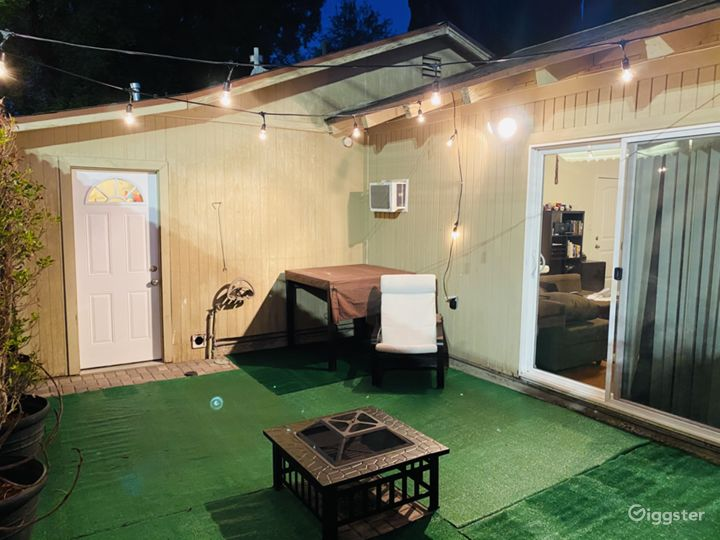Back yard for summer nights dinners