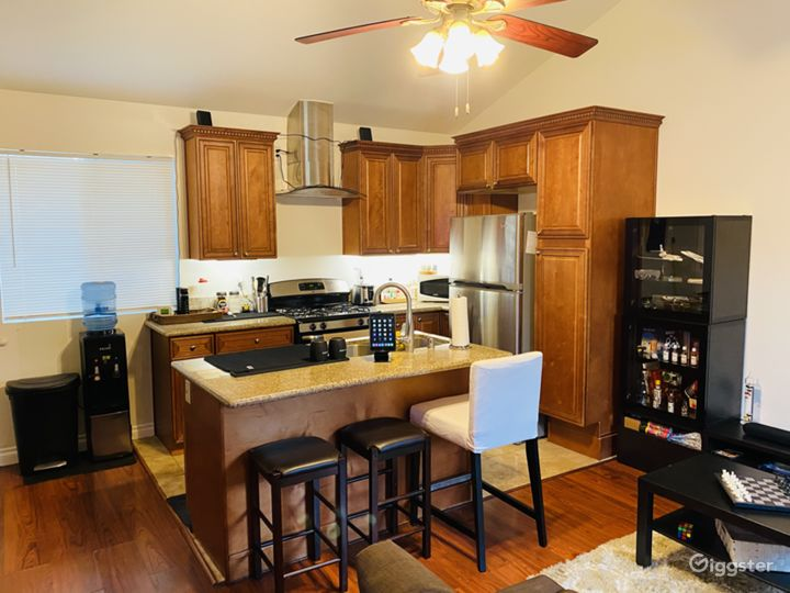 Kitchen with island perfect for breakfast serving and cooking for your guests