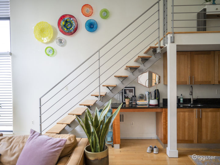 Staircase to the loft